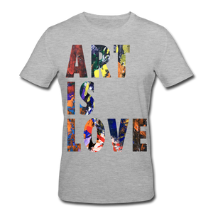 Abstract ART IS LOVE T-Shirt - Grau meliert
