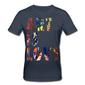Abstract ART IS LOVE T-Shirt - Navy