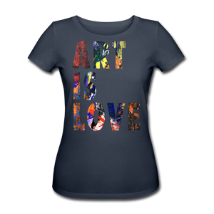 Abstract ART IS LOVE Shirt W - Navy