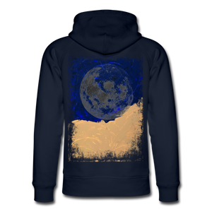 Abstract THE MOON Hoodie - Navy