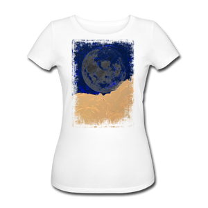 Abstract THE MOON Hoodie - Weiß