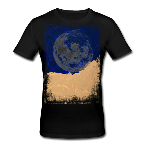 Abstract THE MOON Shirt M - Schwarz