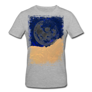 Abstract THE MOON Shirt M - Grau meliert