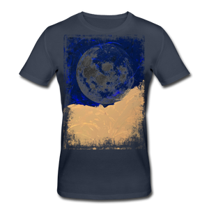 Abstract THE MOON Shirt M - Navy