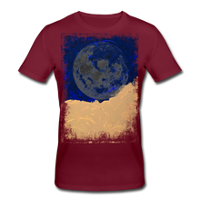 Laden Sie das Bild in den Galerie-Viewer, Abstract THE MOON Shirt M - Burgunderrot