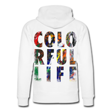 Laden Sie das Bild in den Galerie-Viewer, Abstract COLORFUL LIFE Hoodie - Weiß