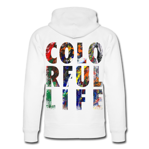 Abstract COLORFUL LIFE Hoodie - Weiß