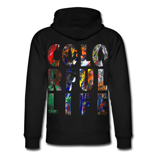 Abstract COLORFUL LIFE Hoodie - Schwarz