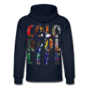 Abstract COLORFUL LIFE Hoodie - Navy