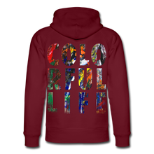 Laden Sie das Bild in den Galerie-Viewer, Abstract COLORFUL LIFE Hoodie - Burgunderrot