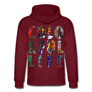 Abstract COLORFUL LIFE Hoodie - Burgunderrot