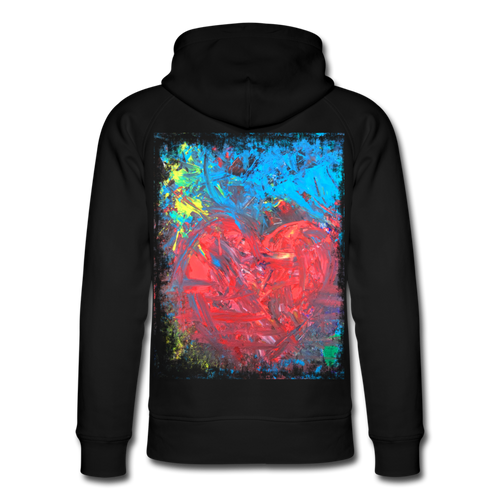 Abstract HEART Hoodie - Schwarz
