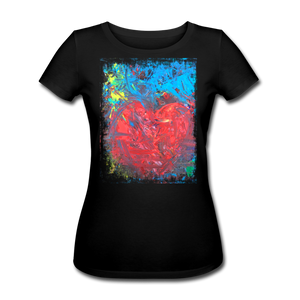 Abstract HEART Shirt W - Schwarz