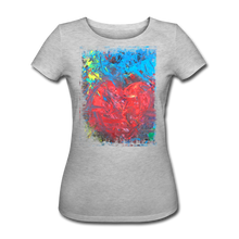 Laden Sie das Bild in den Galerie-Viewer, Abstract HEART Shirt W - Grau meliert