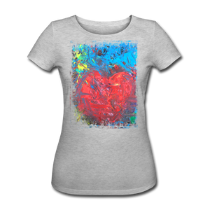 Abstract HEART Shirt W - Grau meliert