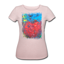 Laden Sie das Bild in den Galerie-Viewer, Abstract HEART Shirt W - Rosa-Creme meliert