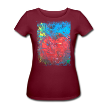 Laden Sie das Bild in den Galerie-Viewer, Abstract HEART Shirt W - Burgunderrot