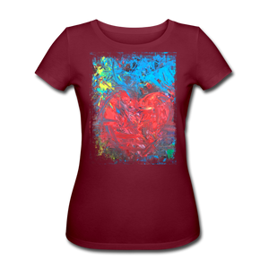 Abstract HEART Shirt W - Burgunderrot