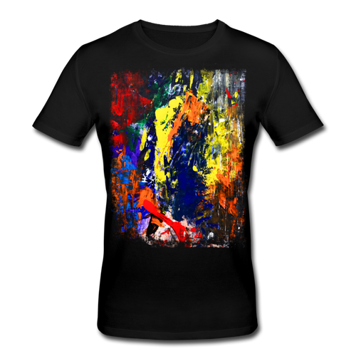 Abstract I Shirt M - Schwarz