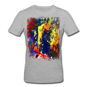Abstract I Shirt M - Grau meliert