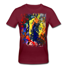 Laden Sie das Bild in den Galerie-Viewer, Abstract I Shirt M - Burgunderrot