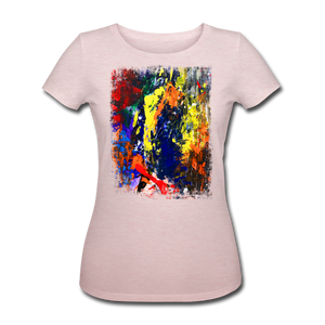 Abstract I Shirt W - Rosa-Creme meliert