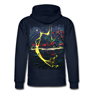Abstract THE BOW Hoodie - Navy