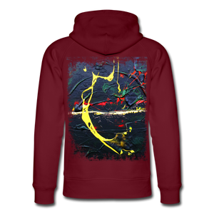 Abstract THE BOW Hoodie - Burgunderrot