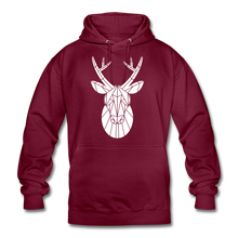 "Laden Sie das Bild in den Galerie-Viewer, Unisex Hoodie ""Deer"" - Bordeaux"