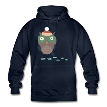 "Laden Sie das Bild in den Galerie-Viewer, Unisex Hoodie ""Eule"" - Navy"