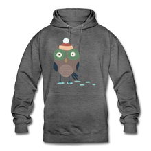 "Laden Sie das Bild in den Galerie-Viewer, Unisex Hoodie ""Eule"" - Anthrazit"