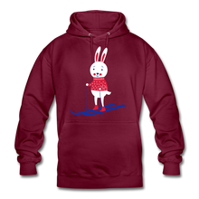 "Laden Sie das Bild in den Galerie-Viewer, Unisex Hoodie ""Hase"" - Bordeaux"