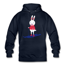 "Laden Sie das Bild in den Galerie-Viewer, Unisex Hoodie ""Hase"" - Navy"
