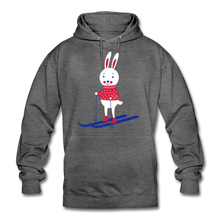 "Laden Sie das Bild in den Galerie-Viewer, Unisex Hoodie ""Hase"" - Anthrazit"