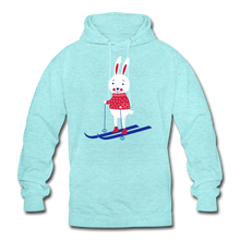 "Laden Sie das Bild in den Galerie-Viewer, Unisex Hoodie ""Hase"" - surferblau"