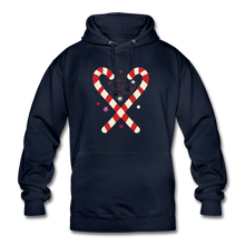 "Laden Sie das Bild in den Galerie-Viewer, Unisex Hoodie ""Zuckerstange"" - Navy"