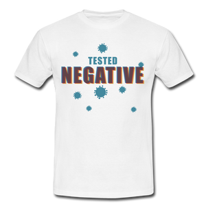 "T-Shirt ""Tested Negative"" - Weiß"