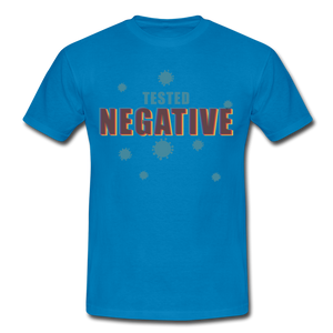 "T-Shirt ""Tested Negative"" - Royalblau"