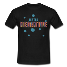 "Laden Sie das Bild in den Galerie-Viewer, T-Shirt ""Tested Negative"" - Schwarz"