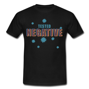 "T-Shirt ""Tested Negative"" - Schwarz"