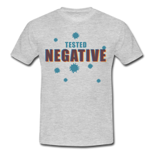 "Laden Sie das Bild in den Galerie-Viewer, T-Shirt ""Tested Negative"" - Grau meliert"