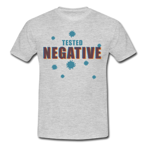 "T-Shirt ""Tested Negative"" - Grau meliert"