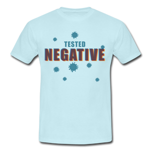"T-Shirt ""Tested Negative"" - Sky"
