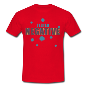 "T-Shirt ""Tested Negative"" - Rot"