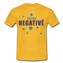 "Laden Sie das Bild in den Galerie-Viewer, T-Shirt ""Tested Negative"" - Gelb"