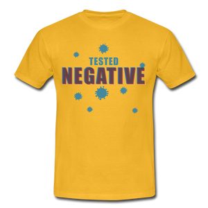 "T-Shirt ""Tested Negative"" - Gelb"