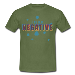 "T-Shirt ""Tested Negative"" - Militärgrün"