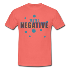"Laden Sie das Bild in den Galerie-Viewer, T-Shirt ""Tested Negative"" - Koralle"