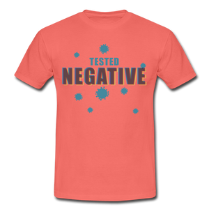 "T-Shirt ""Tested Negative"" - Koralle"
