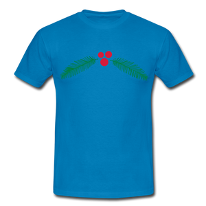 "T-Shirt ""Christmas"" - Royalblau"
